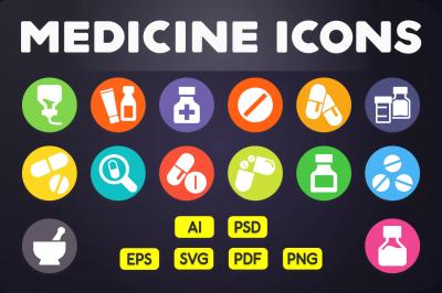 Flat Icon: Medicine Icons Vol.1