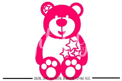 Teddy Bear SVG / DXF / PNG Files