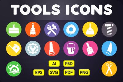 Flat Icon: Tools Icons Vol.1