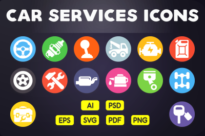 Flat Icon: Car Services Icons Vol. 2