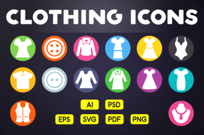 Flat Icon: Clothing Icons Vol.2