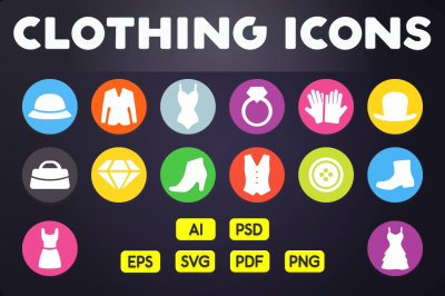 Flat Icon: Clothing Icons Vol.1