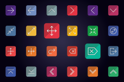 Arrows and User Interface Flat Icons