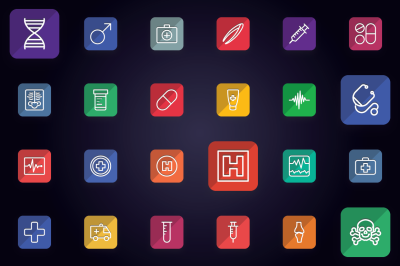 Medical - Medicine & Anatomy Icons