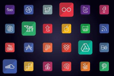 Social Media & Social Logos Icons