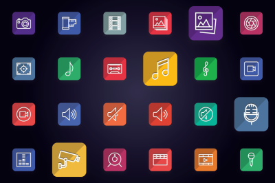 Media - Audio, Video & Photo Icons