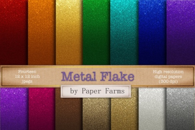 Metal flake effects