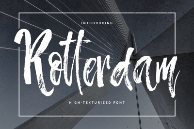 Rotterdam - highly-texturized font