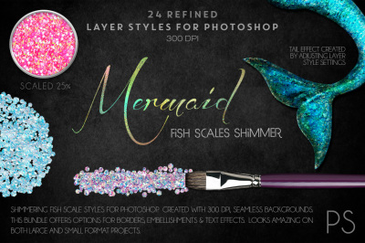 Mermaid Fish Scale Shimmers