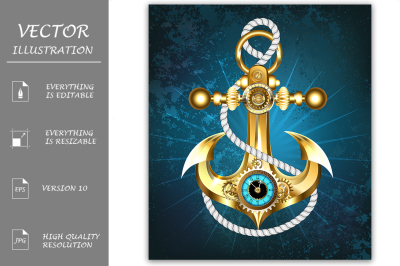 Anchor with Clock ( Steampunk )