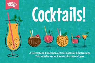 Cocktail Party Vector Illustrations