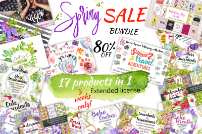 Spring Sale bundle 80% OFF!