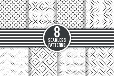 Modern textured seamless patterns