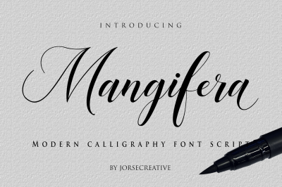 Mangifera Font Script