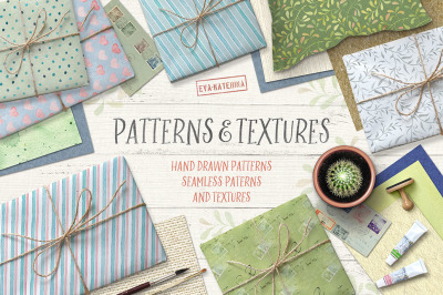 Watercolor Patterns and Textures
