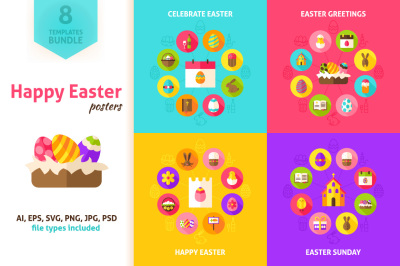 Happy Easter Vector Concepts