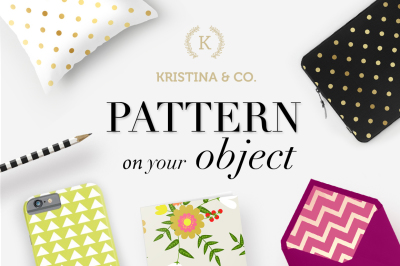 Gold & Color style pattern