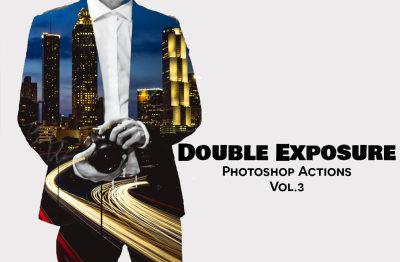 Double Exposure Photoshop Actions Vol. 3