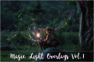 4K Magic Light Overlays Vol. 1
