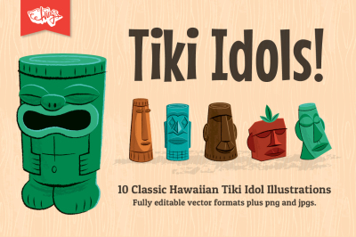 Tiki Idol Vector Illustrations
