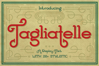 Tagliatelle- Display Font