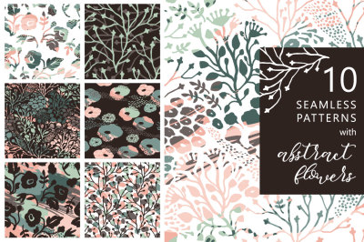 10 artistic seamless patterns