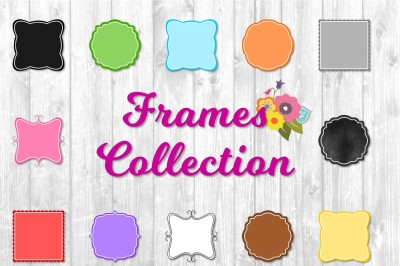 Frames collection. 78 frames: 6 styles, 11colors+transparent+chalk. PNG Files $1 For a limited time!!