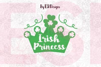 Irish Princess - St Patrick's Day - SCG, DXF, EPS & PNG