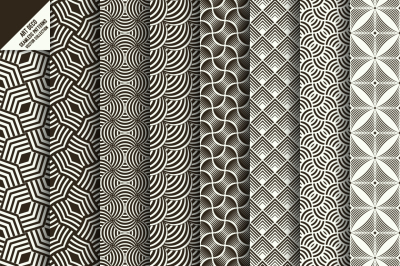 Art deco seamless wallpapers