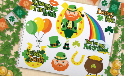 St Patrick's Lucky Irish - VECTOR CLIPART