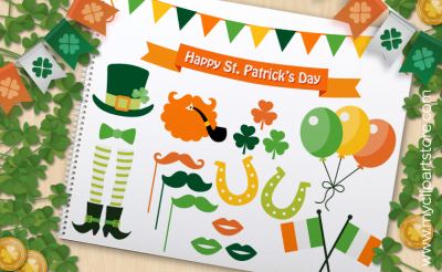 St Patrick's Day Elements - VECTOR CLIPART