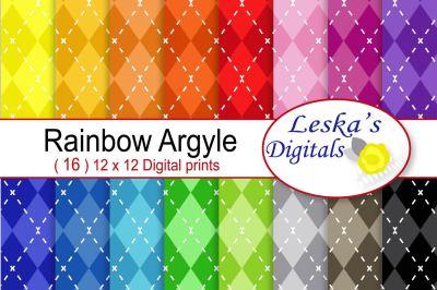 Argyle Digital Scrapbook Paper
