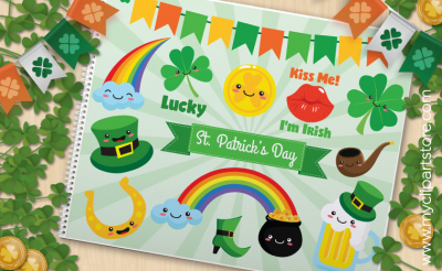 St Patrick Stickers - VECTOR CLIPART
