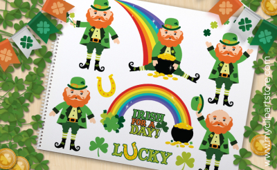 St. Patrick's Day Leprechaun - Vector Clipart