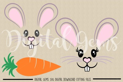 Rabbit Faces SVG / DXF / PNG Files