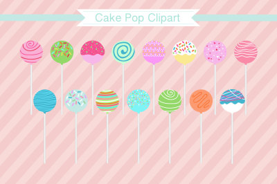 "Cake Pop Clipart ""Cake Pops"" Clipart"