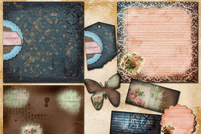 Vintage Memories Scrapbook Papers