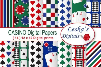 Poker Party - Casino Digital Paper
