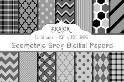 Gray Grey Digital Papers