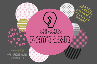 9 circle pattern + 4 memphis pattern