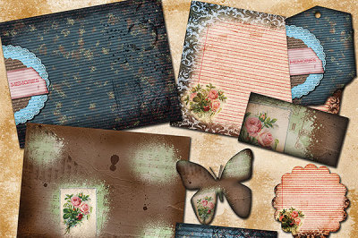 Vintage Memories Landscape Journal Papers