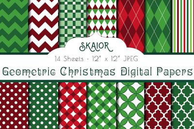 Geometric Christmas Digital Papers