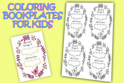 Printable bookplates for coloring