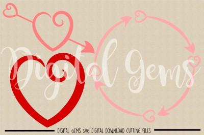 Heart Frames SVG / DXF / EPS / PNG files