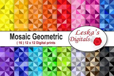 Colorful Mosaic Geometric Pattern