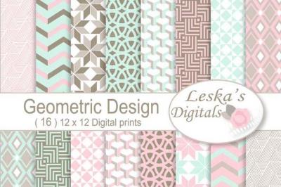 Geometric Digital Paper Patterns