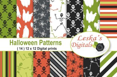 Halloween Skeleton Digital Paper