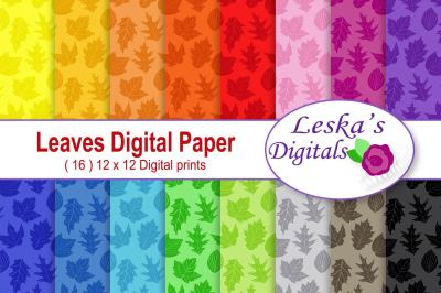 Leaves Digital Paper - Fall - Autumn