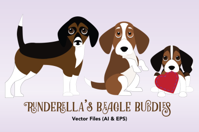 Beagle Buddies (Editable Vector Files)
