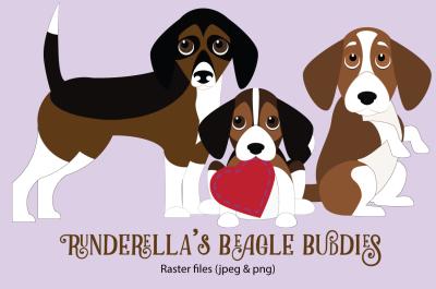 Runderella's Beagle Buddies (Jpeg & png)